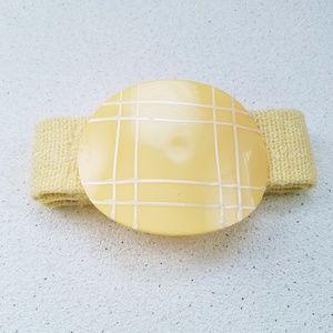 Statement 80's Vintage Yellow Clasp Belt